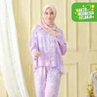 Galaxy Purple Sleepwear / Pajamas One Set - Lengan Pendek