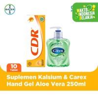 CDR Rasa Jeruk 10 Tablet & Carex Hand Wash Aloe Vera 250ml