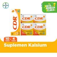 CDR Suplemen Kalsium Rasa Jeruk 10 Tablet & CDR 4 Sachet