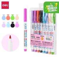 Deli 8 Color whiteboard marker graffiti drawing easy to erase S504