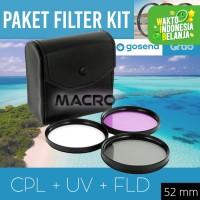 FILTER KIT CPL+UV+FLD 52MM