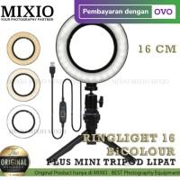 MIXIO Ring light 16CM Paket tripod mini ball head Livestreamer Selfie