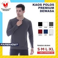 faremost-Kaos Polos Pria Lengan Panjang Cotton Combed 30s