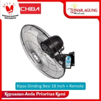 MITOCHIBA 1822WR Kipas Angin Dinding Besi Wall Fan 18 inch + REMOTE