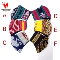Masker Tenun Ikat 3 Ply Formal & Informal Style Premium