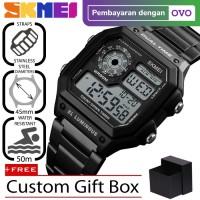 Jam Tangan Pria Dual Time SKMEI Casio Men Sport Original 1335 Anti Air
