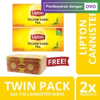 Lipton Yellow Label 25 Teh Celup Twinpack Free Canister India