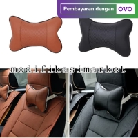 BANTAL LEHER MOBIL HEAD REST CAR NECK PILLOW BANTAL LEHER SUPER NYAMAN