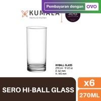 Sero Gelas Hi-Ball Glass 270 ml - set of 6
