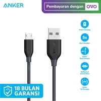 Kabel Charger Anker PowerLine Micro 3ft/0.9m Red - A8132