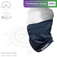 XABA Balaclava Hitam - Spandek- Masker Motor - Bandana - Half Face