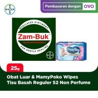Zambuk obat luar 25 gram & MamyPoko Tisu Basah Reguler 52 Non Perfume