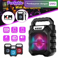 Speaker Bluetooth Portable 668 Wireless Free Mic Warna Random Only