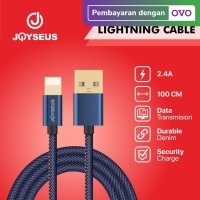 JOYSEUS Apple Lighting Cable 2.4A Braided Cable 120CM - KB0001