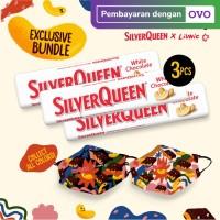 SilverQueen White x Liunic (isi 3 + FREE masker Liunic)