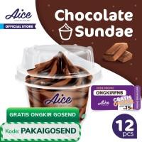 Paket Aice Ice Cream Chocolate Sundae Cup Es Krim (isi 12 pcs)