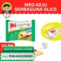 MEG Keju Serbaguna Slice 10 slices Twin Pack - Free Lunch Box