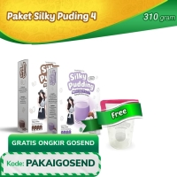 Paket Silky Pudding 4 - FREE Food Container
