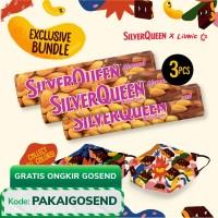 SilverQueen Àlmond x Liunic (isi 3 + FREE masker Liunic)