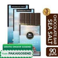 WoCA Premium Chocolate 3 x 90g Bars - Cokelat Batang Rasa Sea Salt