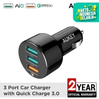 Aukey Car Charger 3 Ports 42W QC 3.0 and AiQ - 500126