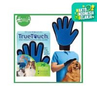 True Touch Pet Glove Sisir Anjing Kucing Grooming Sarung Tangan EH111