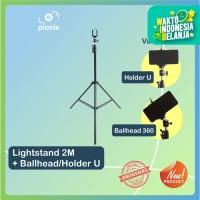 LightStand 2m with holder hp + ballhead