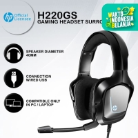 Headset Gaming HP H220GS - The Real 7.1 Surround Blue LED USB Wired