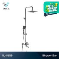 VONE SJ-58SS Shower Tiang Column Panas Dingin Keran Mixer Set Paket
