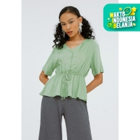 Colorbox V-Neck Blouse I:Bswkey120F019 Turquois