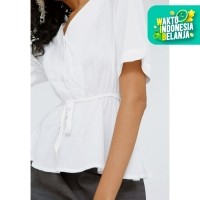 Colorbox V-Neck Blouse I:Bswkey120F020 Off White