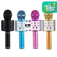 Mic Karaoke Bluetooth WS858 Smule Portable Wireless Microphone Speaker