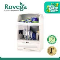 Rovega Rak Piring Plastik Pladys Premium Dish Cabinet (Food Grade)