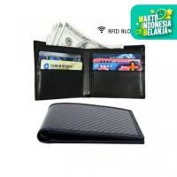 Carbon Fiber Wallet RFID Blocking Leather Bifold Slim Wallet