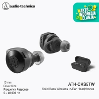 Audio Technica ATH-CKS5TW Solid Bass Wireless In-Ear Headphone - Black