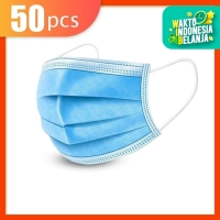 Masker 3 Ply 3Ply isi 50 disposable Surgical mask Masker Bedah Earloop