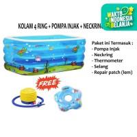 AQUATIC Kolam Baby Spa Kotak 4 Ring | Pool Renang Anak Bayi + Pompa