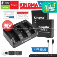 KingMa Paket Complete Battery Charger Set for Xiaomi Yi 4K Version 2