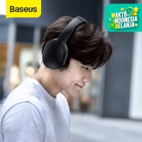 BASEUS D02 FOLDABLE HEADPHONE BLUETOOTH WIRED/WIRELESS EARPHONE V5.0 - D02PRO HITAM