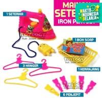 Mainan Anak Perempuan Seterika Setrika Gosokan Baju Iron Playset