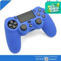 Silikon Silicone Kondom Case Stik Stick PS4 Warna Biru Tua