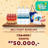 Adem Sejuk 350ml- [7 pcs] + Crystalline 1500ml - [3 Pcs] + Totebag