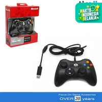 Stik Stick Xbox 360 PC Wired Original Pabrik Warna Hitam Kabel