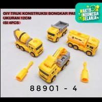 Mainan Anak DIY Assemble Construction Truck Truk Konstruksi Rakit 4pcs