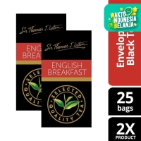 Lipton English Breakfast Stl 25x2.4g Twin Pack