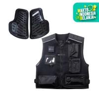 KOMINE JK-661 Protect Mesh Vest Jaket Rompi Motor - Black