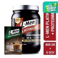 L-Men Platinum Choco Latte 800gr + L-Men Proteinmix Coffee (6 Sch)