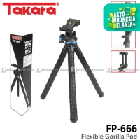 TAKARA FP-666 Tripod Mini Ballhead GorillaPod Camera DSLR Smartphone