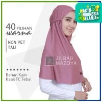 Jilbab Non Pet Tali L Mazoya Hijab Kaos Khimar Kerudung Instan Bergo