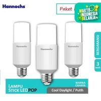 Hannochs Lampu LED Pop 3 Watt Cahaya Putih - Paket Isi 3pcs